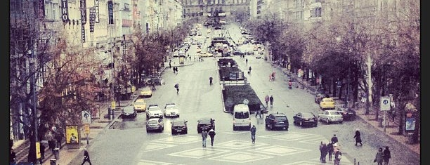 Wenceslas Square is one of Prag.