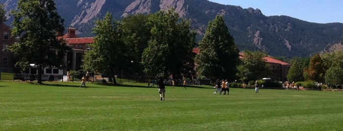 CU: Farrand Field is one of CU Boulder Buff-A-Hop.
