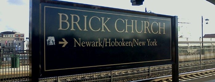 NJT - Brick Church Station (M&E) is one of New Jersey Transit Train Stations I Have Been To.