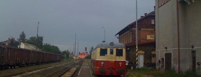 Železniční stanice Podbořany is one of Železniční stanice ČR: P (9/14).
