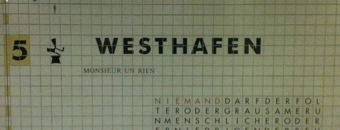 S+U Westhafen is one of U-Bahn Berlin.