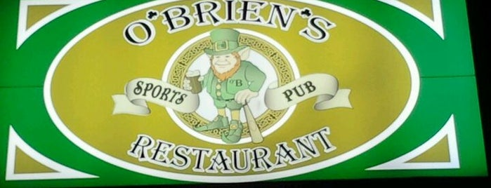 O'Brien's Sports Pub & Restaurant is one of I spy with my 4sq eye.