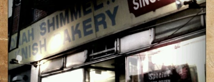 Yonah Schimmel Knish Bakery is one of NY Region Old-Timey Bars, Cafes, and Restaurants.
