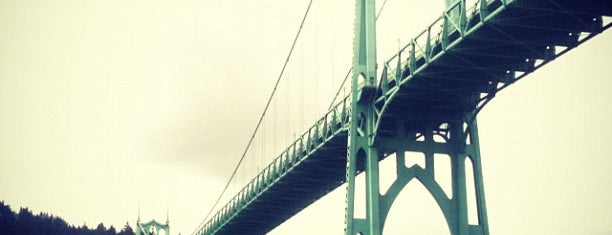 St. Johns Bridge is one of Portland by Bike.