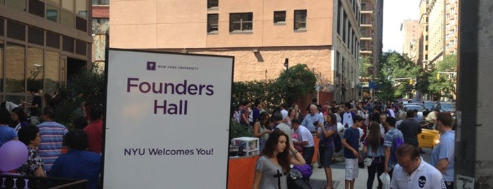 NYU Founders Residence Hall is one of Gender Neutral Bathrooms at NYU.
