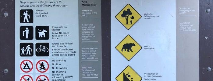 Mailbox Peak Trailhead is one of Hiking Locations.