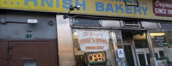 Yonah Schimmel Knish Bakery is one of Planning for my trip to NYC.
