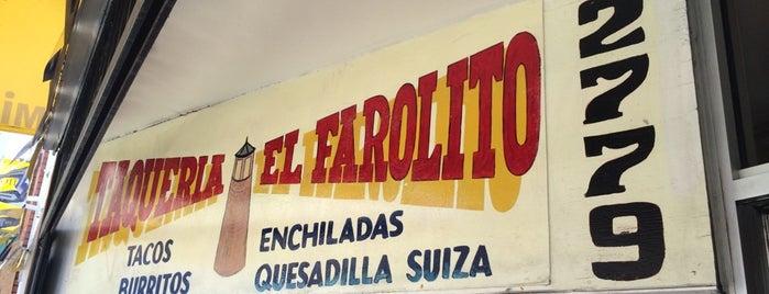 Taqueria El Farolito is one of California's Top 20 Burrito Places.