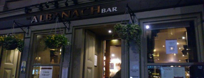 The Albanach is one of The 15 Best Places for a Whiskey in Edinburgh.