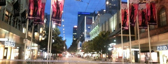 Bourke Street Mall is one of Melbourn.