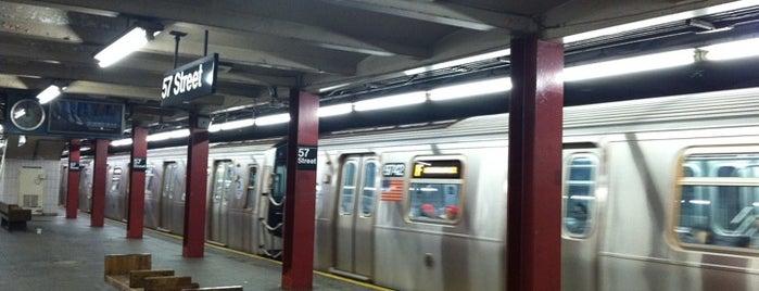 MTA Subway - 57th St (F) is one of MTA Subway - F Line.