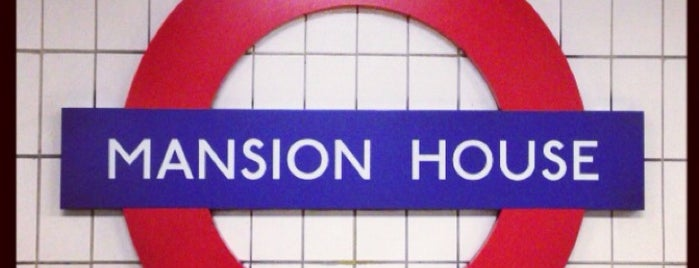 Mansion House London Underground Station is one of Railway stations visited.