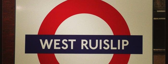 West Ruislip London Underground Station is one of Tube Challenge.
