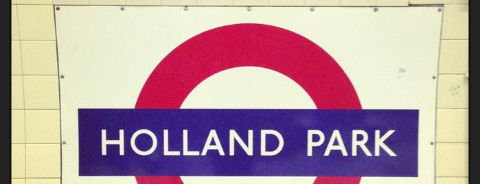 Holland Park London Underground Station is one of Underground.