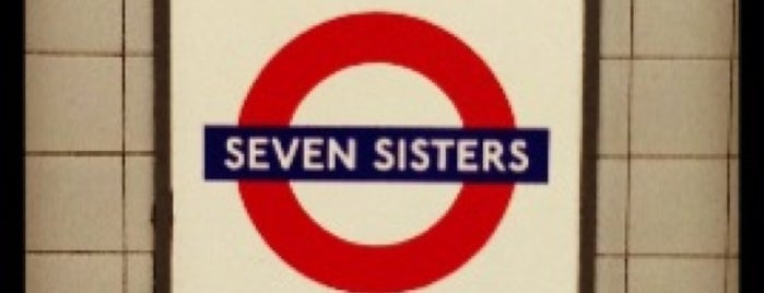 Seven Sisters London Underground Station is one of Tube Challenge.