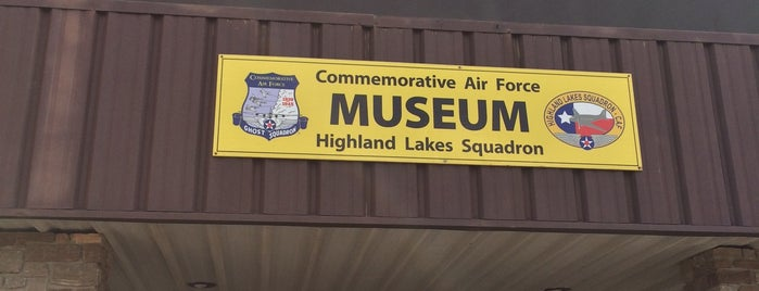 The Highland Lakes Squadron Air Museum is one of Roadside Discoveries.