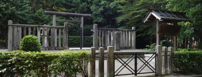 齊明天皇 越智崗上陵(車木ケンノウ古墳) is one of 天皇陵.