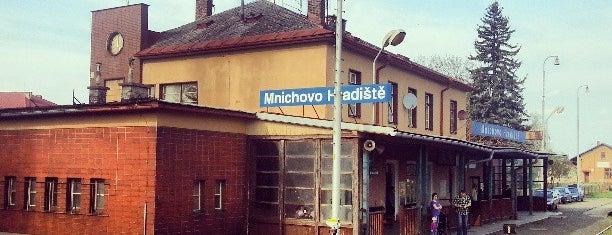 Mnichovo Hradiště Railway Station is one of Železniční stanice ČR: M (7/14).