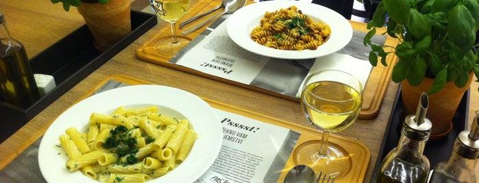 Pasta Krusta is one of WebExpo - restaurants' tips.