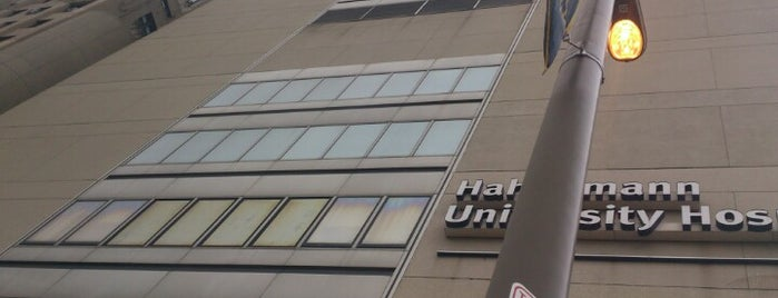 Hahnemann University Hospital is one of Area Hospitals.