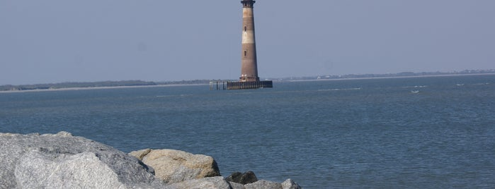 Morris Island Lighthouse is one of Charleston, SC.