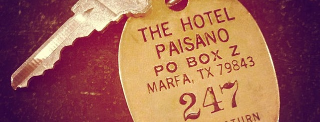 Hotel Paisano is one of Marfa.