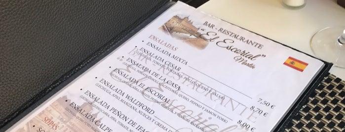 Bar Escorial is one of comidas.