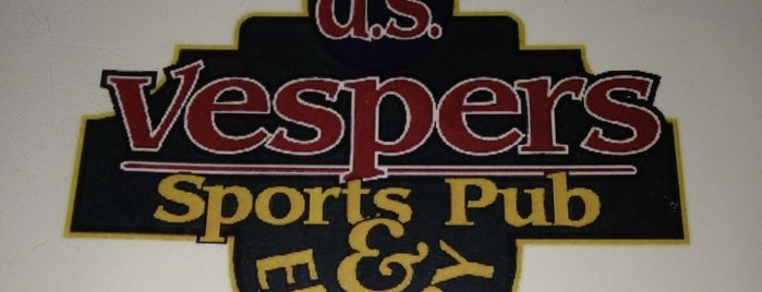 D.S. Vespers Sports Pub & Eatery is one of work.
