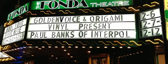 The Fonda Theatre is one of I'm in L.A. you trick!.
