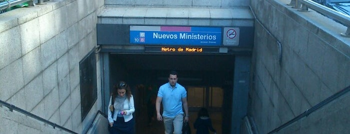 Metro Nuevos Ministerios is one of Transporte.