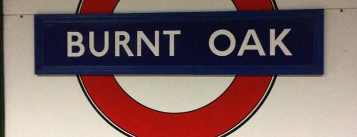 Burnt Oak London Underground Station is one of Tube Challenge.