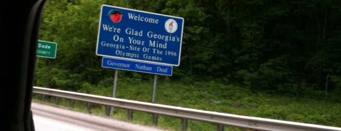 Georgia / Tennessee State Line is one of favorite places.