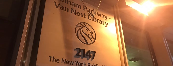 New York Public Library - Van Nest is one of New York Public Libraries.