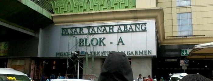 Pasar Tanah Abang Blok A is one of Jakarta. Indonesia.