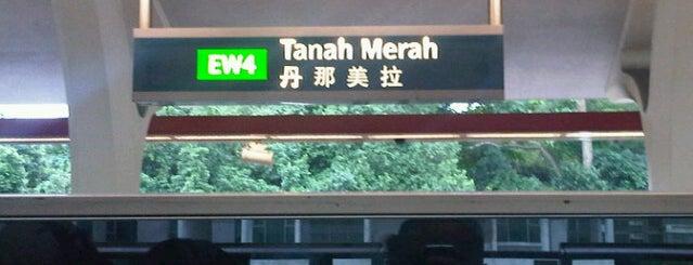 Tanah Merah MRT Interchange (EW4) is one of MRT: East West Line.