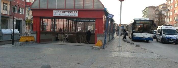 Demetevler Metro İstasyonu (M1) is one of Ankara Metro İstasyonları | Ankara Subway Stations.