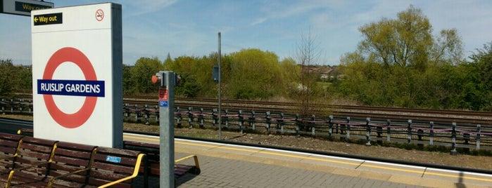 Ruislip Gardens London Underground Station is one of Tube Challenge.
