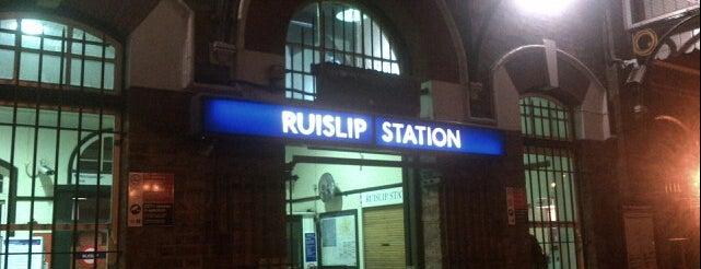 Ruislip London Underground Station is one of Tube Challenge.