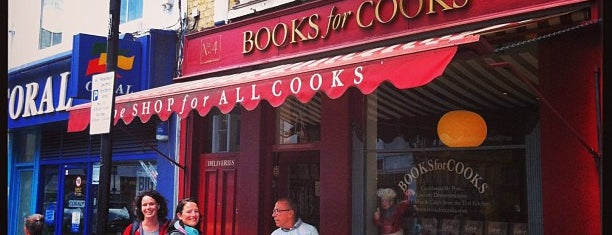 Books For Cooks is one of London best.