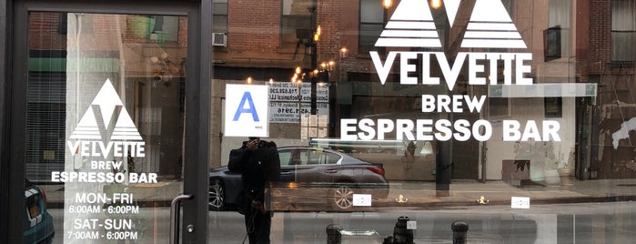 Velvette Brew is one of coffee nyc.