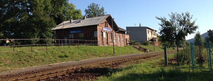 Železniční stanice Hlinsko pod Hostýnem is one of Železniční stanice ČR: H (3/14).