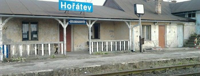 Železniční zastávka Hořátev is one of Železniční stanice ČR: H (3/14).