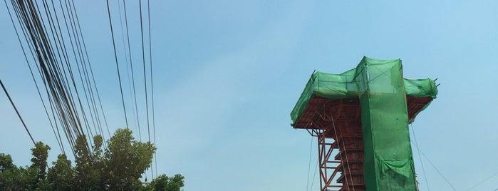 [Construction Site] BTS Khu Khot (N24) is one of BTS - Light Green Line (Sukhumvit Line).