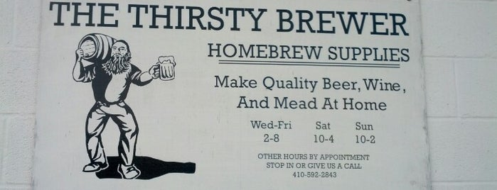 Thirsty Brewer is one of Places Frequented.