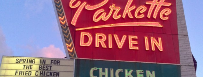 The Parkette Drive-In is one of Diners, Drive-Ins, and Dives- Part 2.
