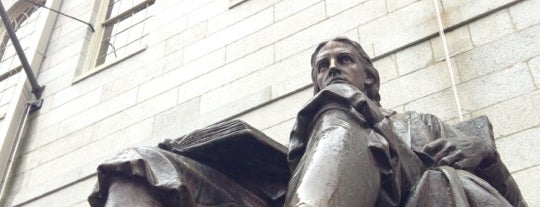 John Harvard Statue is one of MASSACHUSETTS STATE - UNITED STATES OF AMERICA.