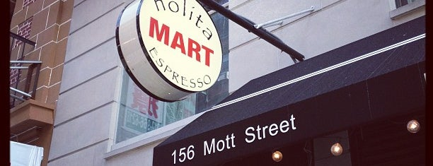 Nolita Mart & Espresso Bar is one of Hacker School Warm Liquid Recommendations.