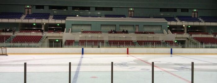 ビッグハット (長野市若里多目的スポーツアリーナ Big Hat) is one of スケートリンク.