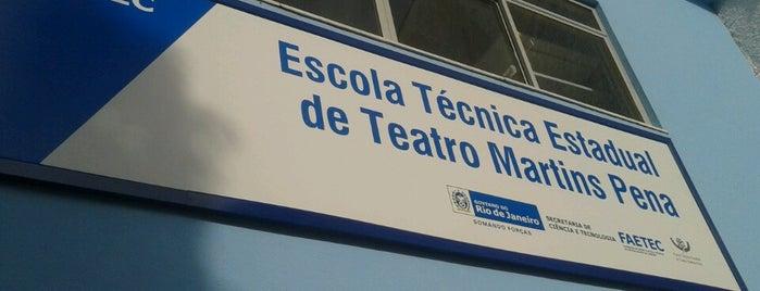 Escola Estadual de Teatro Martins Pena is one of Bons lugares.