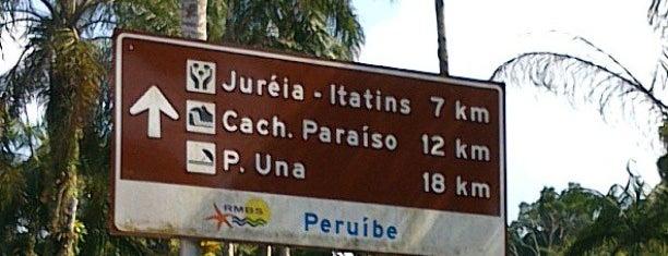 Estação Ecológica de Juréia - Itatins is one of Peruibe.